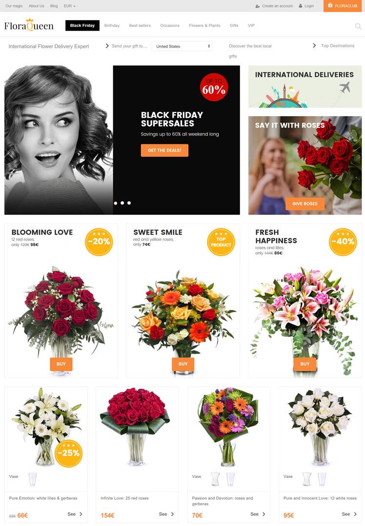 国际鲜花速递专家:Floraqueen