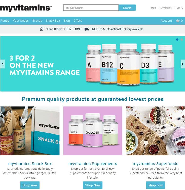 英国口碑最好的的维他命胶囊品牌:Myvitamins(有中文站)