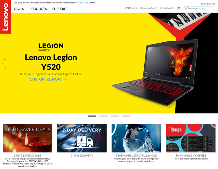 联想新加坡官方网站:Lenovo Singapore