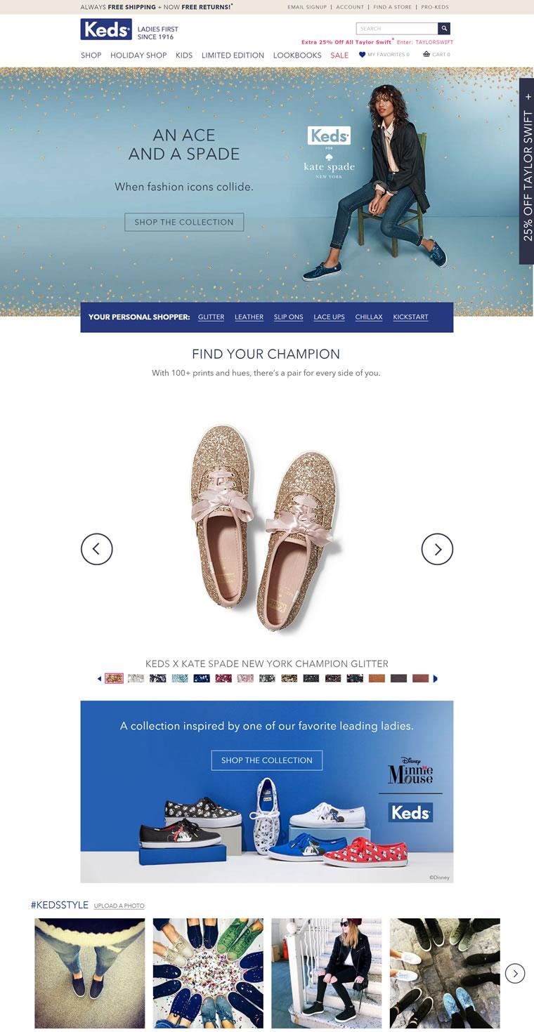 Keds官方网站:购买帆布运动鞋和经典皮鞋