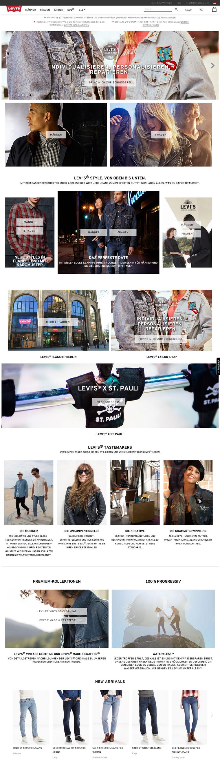 李维斯德国官方网上商店:Levi's德国