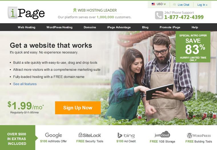 美国老牌主机服务商:iPage