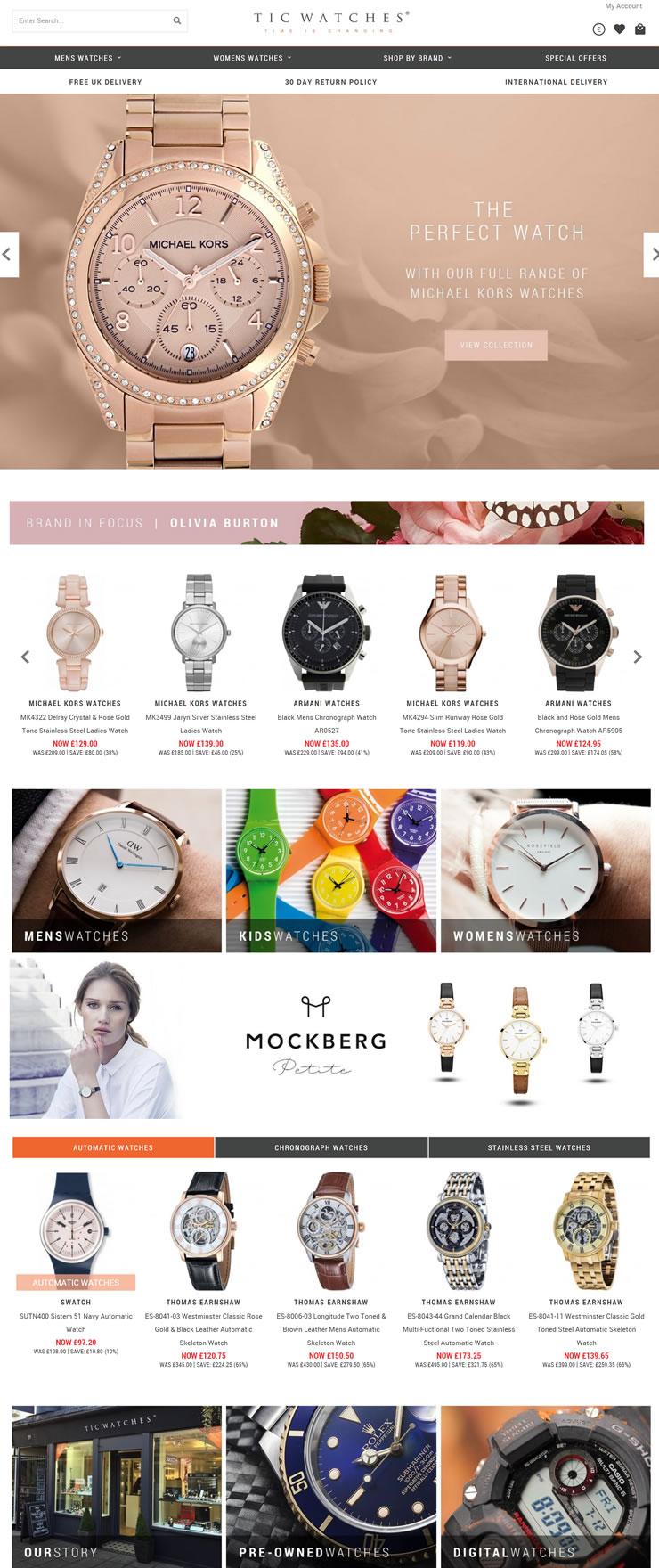 英国排名第一的最新设计师品牌手表独立零售商:TIC Watches