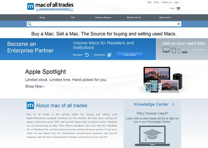 翻新二手苹果产品的网络领导者:Mac of all Trades