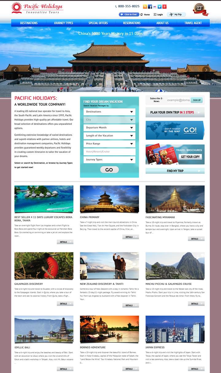 美国全球旅游运营商:Pacific Holidays