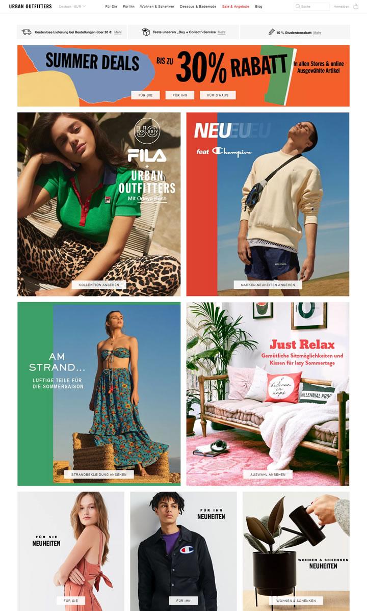 Urban Outfitters德国官网:美国跨国生活方式零售公司