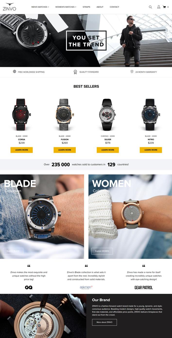 ZINVO官方网站:男士和女士手表
