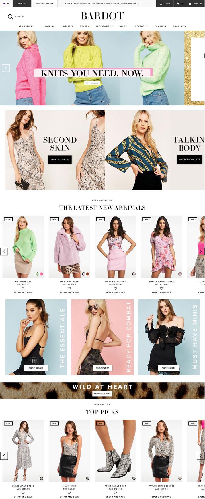 Bardot官网:澳大利亚时装品牌