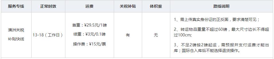 闪购转运英国仓 英国-中国运费价格