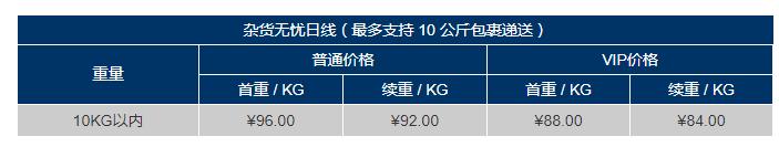 安达易日本转运杂货无忧运费